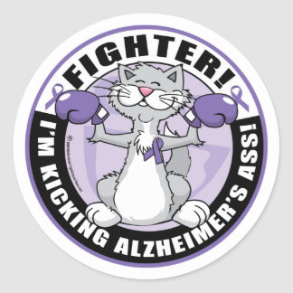 Alzheimers Cat Fighter Stickers