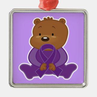 Alzheimers Disease Awareness Bear Keepsake Christmas Ornament