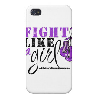 Alzheimer's Disease Awareness Fight Like a Girl iPhone 4 Case