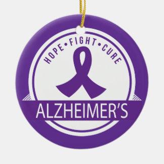 Alzheimers Disease Awareness Hope Ornament