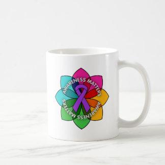 Alzheimers Disease Awareness Matters Petals Coffee Mugs