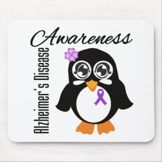Alzheimer's Disease Awareness Penguin Mousepads