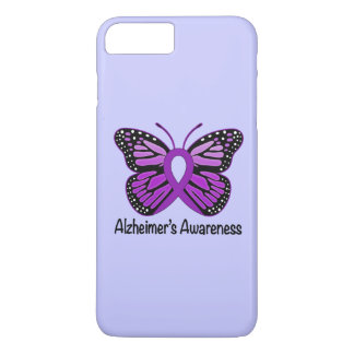 Alzheimer's Disease Awareness Ribbon and Butterfly iPhone 7 Plus Case
