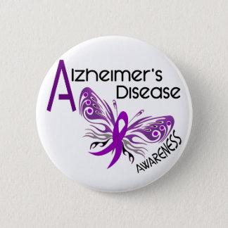 Alzheimer's Disease BUTTERFLY 3 Awareness 6 Cm Round Badge