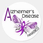 Alzheimer's Disease BUTTERFLY 3 Awareness Round Sticker