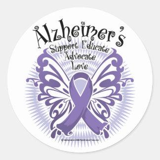 Alzheimer's Disease Butterfly 3 Round Sticker