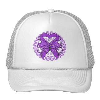 Alzheimers Disease Butterfly Circle of Ribbons Cap