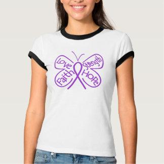 Alzheimers Disease Butterfly Inspiring Words Tee Shirt
