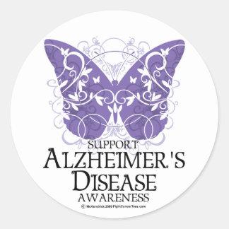 Alzheimer's Disease Butterfly Round Sticker