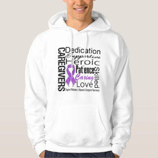 Alzheimers Disease Caregivers Collage Hooded Pullover