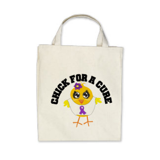 Alzheimers Disease Chick For A Cure Canvas Bag