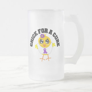 Alzheimers Disease Chick For A Cure Frosted Glass Mug