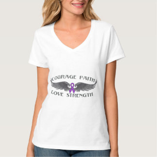 Alzheimers Disease Courage Faith Wings Tshirts