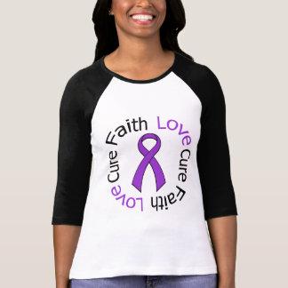Alzheimer's Disease Faith Love Cure T-shirt