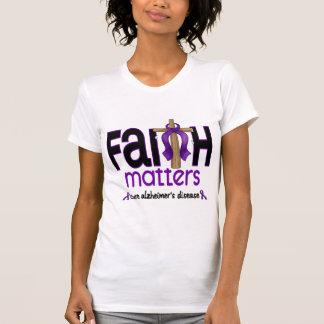 Alzheimers Disease Faith Matters Cross 1 Shirt