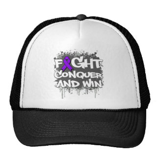 Alzheimers Disease Fight Conquer and Win Hats