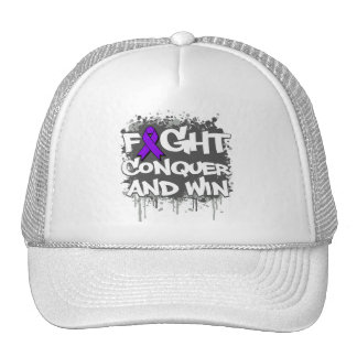 Alzheimers Disease Fight Conquer and Win Hat