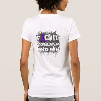 Alzheimers Disease Fight Conquer and Win T-shirt