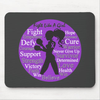 Alzheimer's Disease Fight Like A Girl Collage Mouse Pad