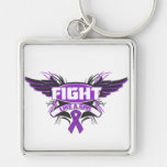 Alzheimers Disease Fight Like a Girl Wings.png Keychain