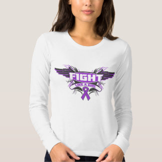 Alzheimers Disease Fight Like a Girl Wings.png T Shirt