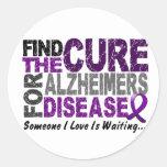 ALZHEIMERS DISEASE Find The Cure 1 Round Sticker