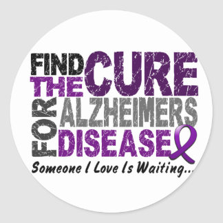 ALZHEIMERS DISEASE Find The Cure 1 Stickers