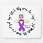 Alzheimers Disease God Made My Hero An Angel Mousepad