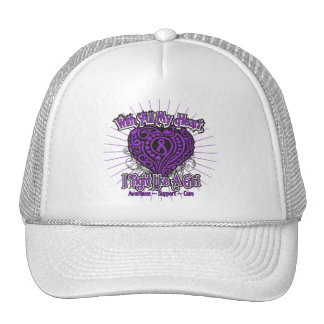 Alzheimers Disease Heart I Fight Like A Girl Hats