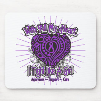 Alzheimers Disease Heart I Fight Like A Girl Mouse Pads