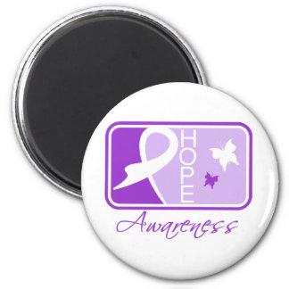 Alzheimer's Disease Hope Awareness Tile Magnets