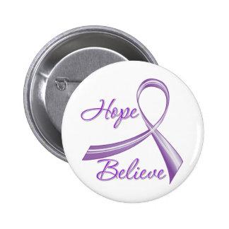 Alzheimers Disease - Hope Believe Pinback Button