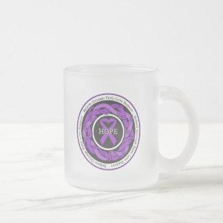 Alzheimers Disease Hope Intertwined Ribbon Coffee Mugs