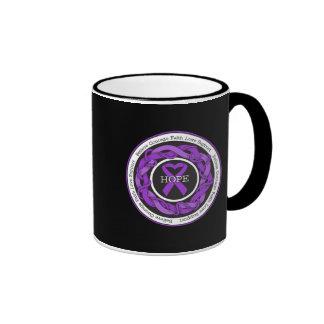 Alzheimers Disease Hope Intertwined Ribbon Coffee Mug