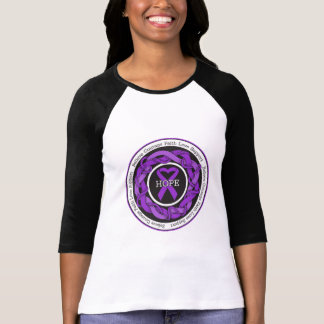 Alzheimers Disease Hope Intertwined Ribbon T Shirts