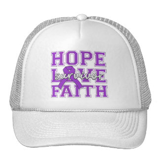 Alzheimers Disease Hope Love Faith Survivor Mesh Hats