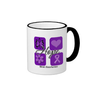 Alzheimers Disease Hope Love Inspire Awareness Coffee Mugs