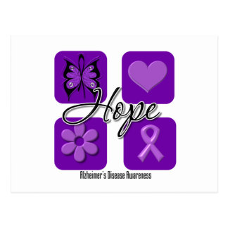 Alzheimers Disease Hope Love Inspire Awareness Postcard