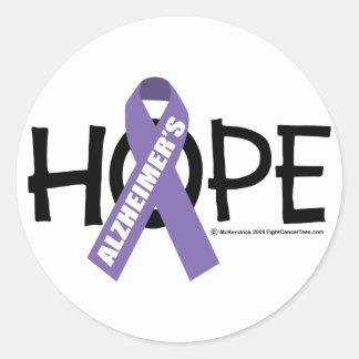 Alzheimer's Disease Hope Round Stickers