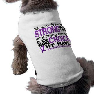 Alzheimer's Disease How Strong We Are Sleeveless Dog Shirt