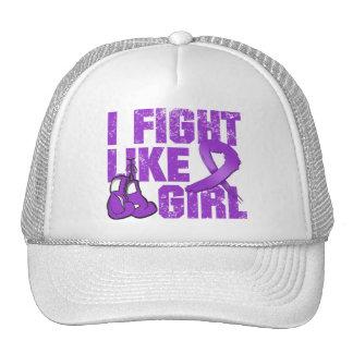 Alzheimers Disease I Fight Like A Girl (Grunge) Cap