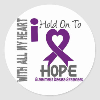 Alzheimers Disease I Hold On To Hope Round Sticker