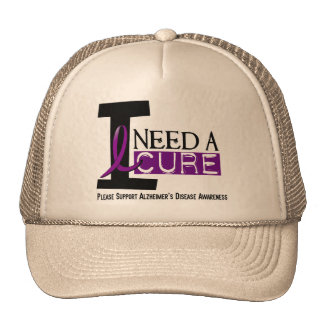 Alzheimer's Disease I NEED A CURE 1 Mesh Hat