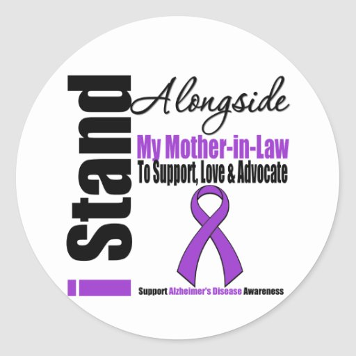 Alzheimers Disease I Stand Alongside Mother-in-Law Stickers