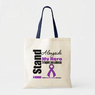 Alzheimers Disease I Stand Alongside My Hero Tote Bag