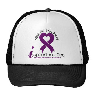 Alzheimers Disease I Support My Dad Mesh Hat