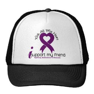 Alzheimers Disease I Support My Friend Mesh Hats