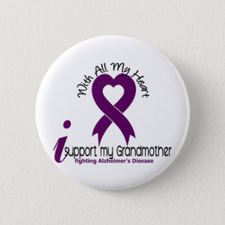 Alzheimers Disease I Support My Grandmother 6 Cm Round Badge
