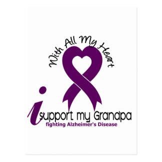 Alzheimers Disease I Support My Grandpa Post Cards