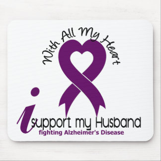 Alzheimers Disease I Support My Husband Mouse Mats